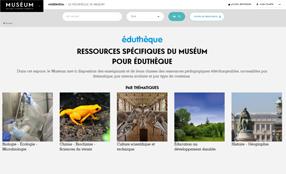 Page d'accueil du site du Musée d'histoire natuerelle